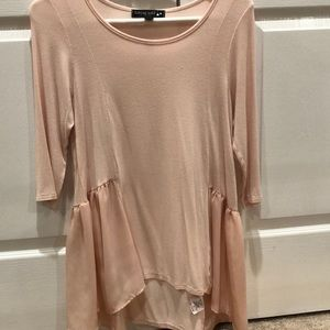 living doll blouse peach color